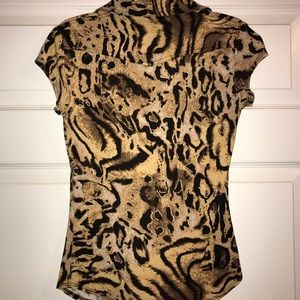 Cache Tops - Cache - Small - Animal Print Top